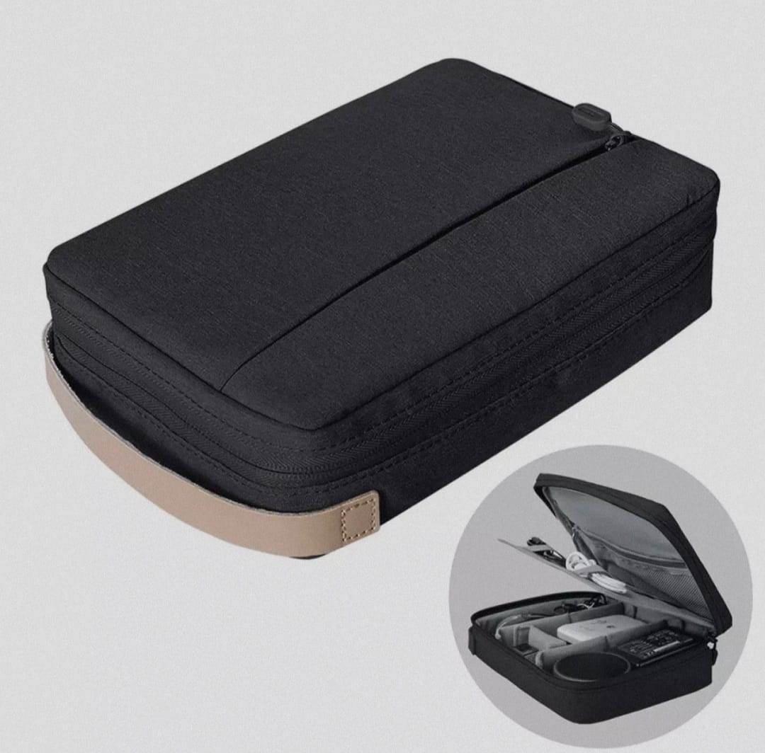 WIWU Cable Storage Bag Electronic Accessories Travel Organizer Bag for Data Cables, Chargers, Plugs, Memory Cards, CF Cards