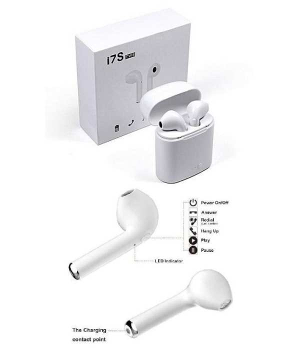 Bluetooth Wireless Airpod Headphones With Charging Case – For Iphone & Android Phones Both