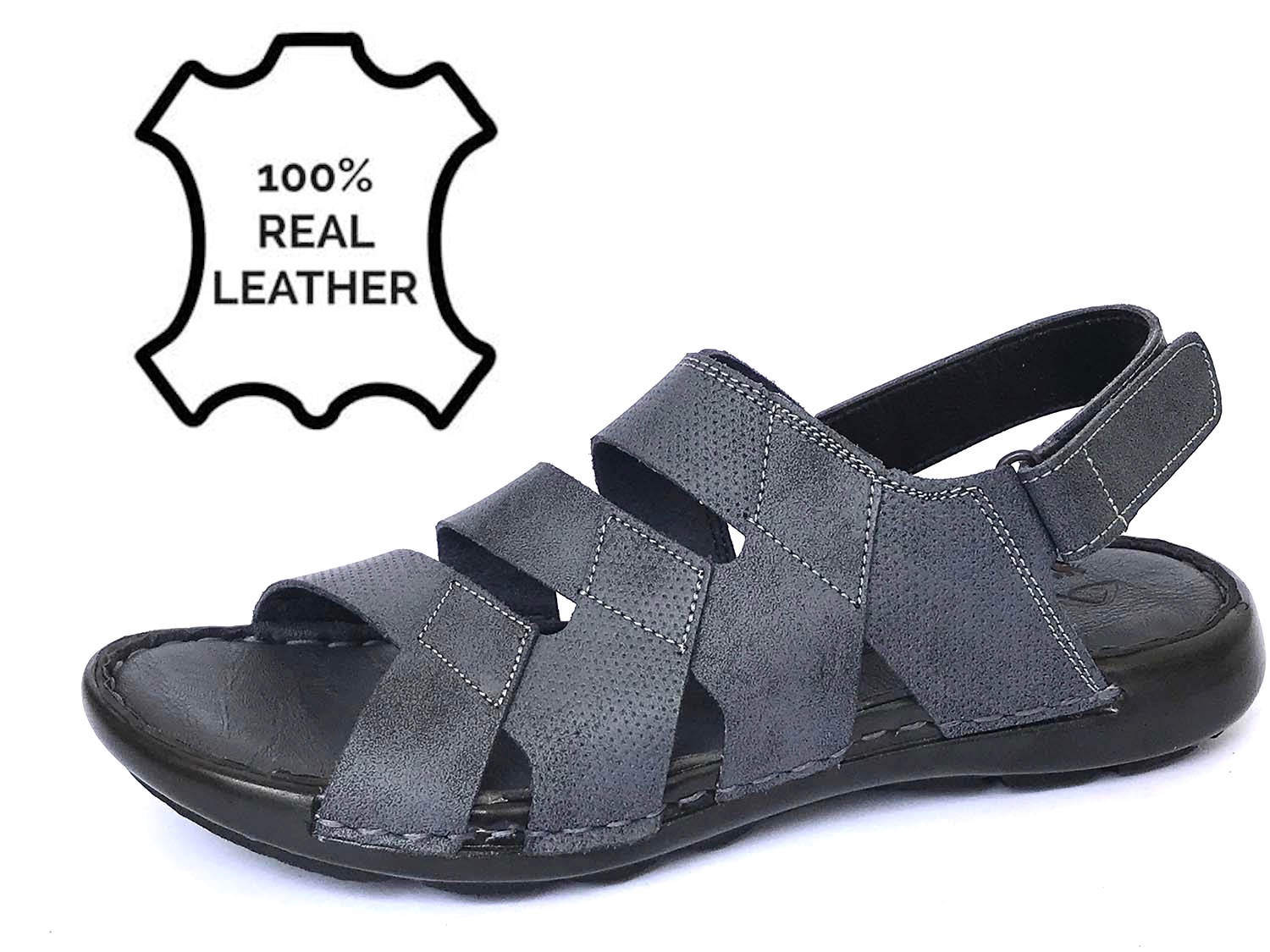 100% Pure Leather Sandal For Men