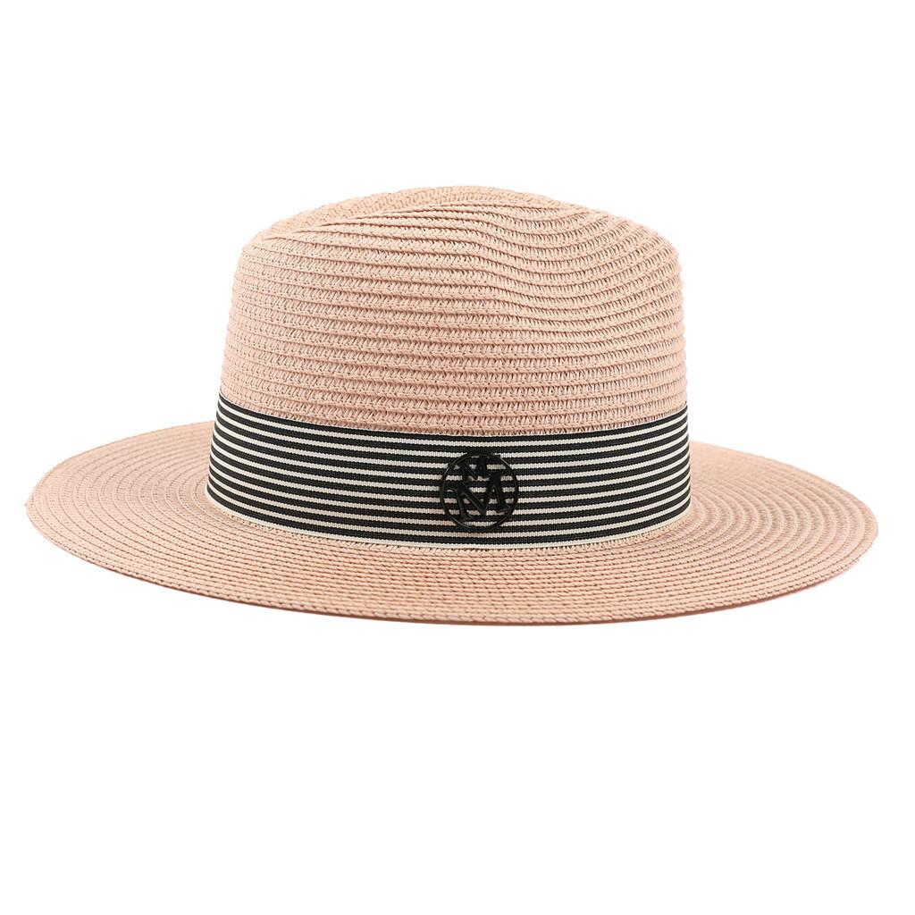 Ladies Womens Adjustable Travel Summer Sun Straw Hat Foldable Brim