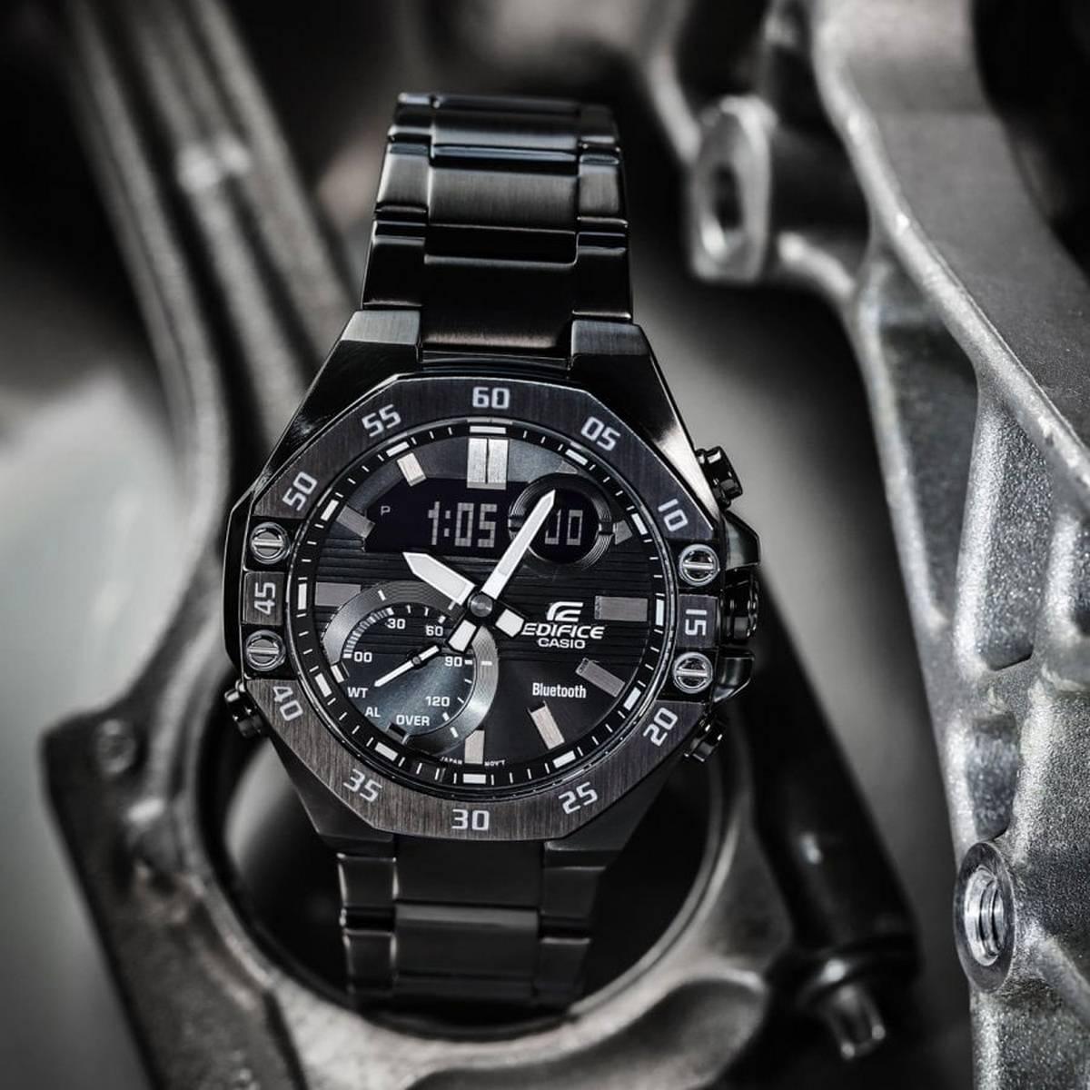 Casio Edifice - ECB-10DC-1ADF - Stainless Steel Wrist Watch for Men - Smart Phone Link - Bluetooth Watch