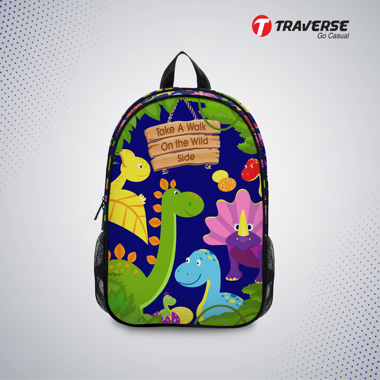 Kids Bag- Wild Jungle , Backpack For Kindergarten (kg), Pre-school Classes. Allover Printed