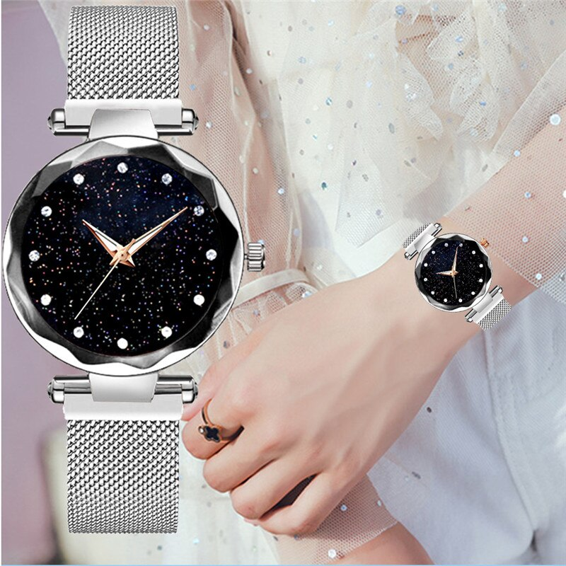 Urbane Watches Magnet Chain Watch For Girls.