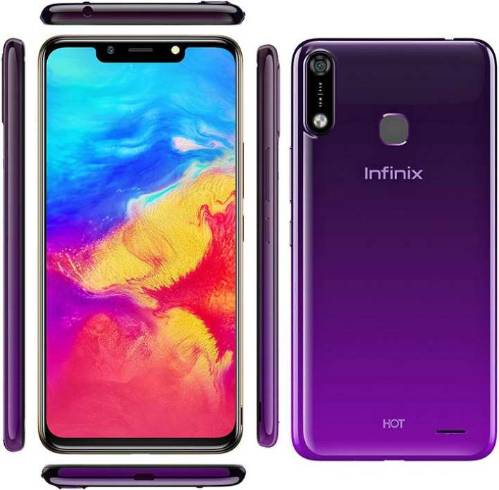"Infinix HOT 7 - 6.2"" HD Display - 1GB RAM - 16 GB ROM - Face Unlock Purple"