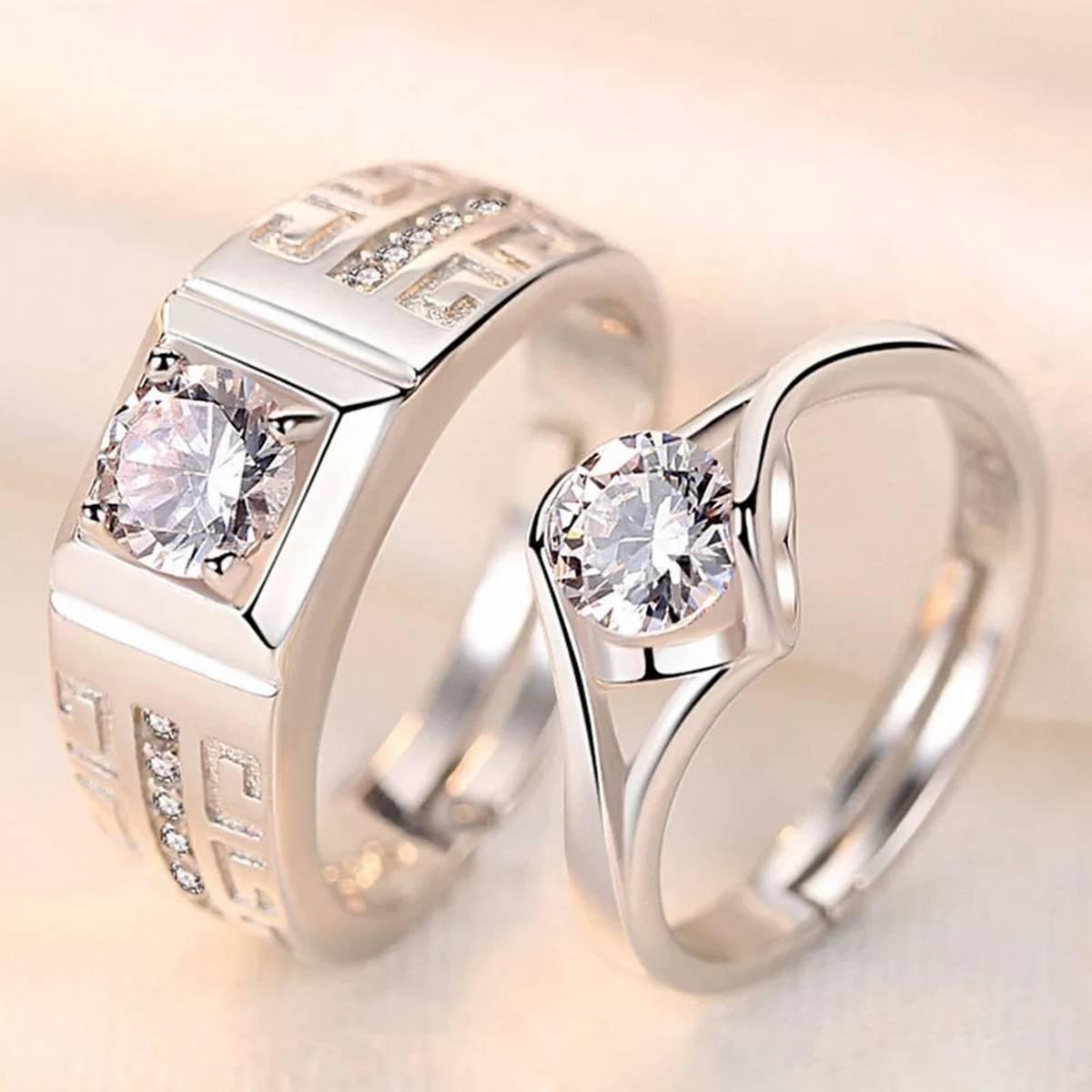 Beautiful Engagement Rings Pair Design 3
