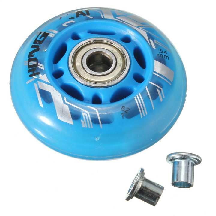 Replacement Skate Wheel Skating Inline Skate Shoes 64mm Dia 8mm
