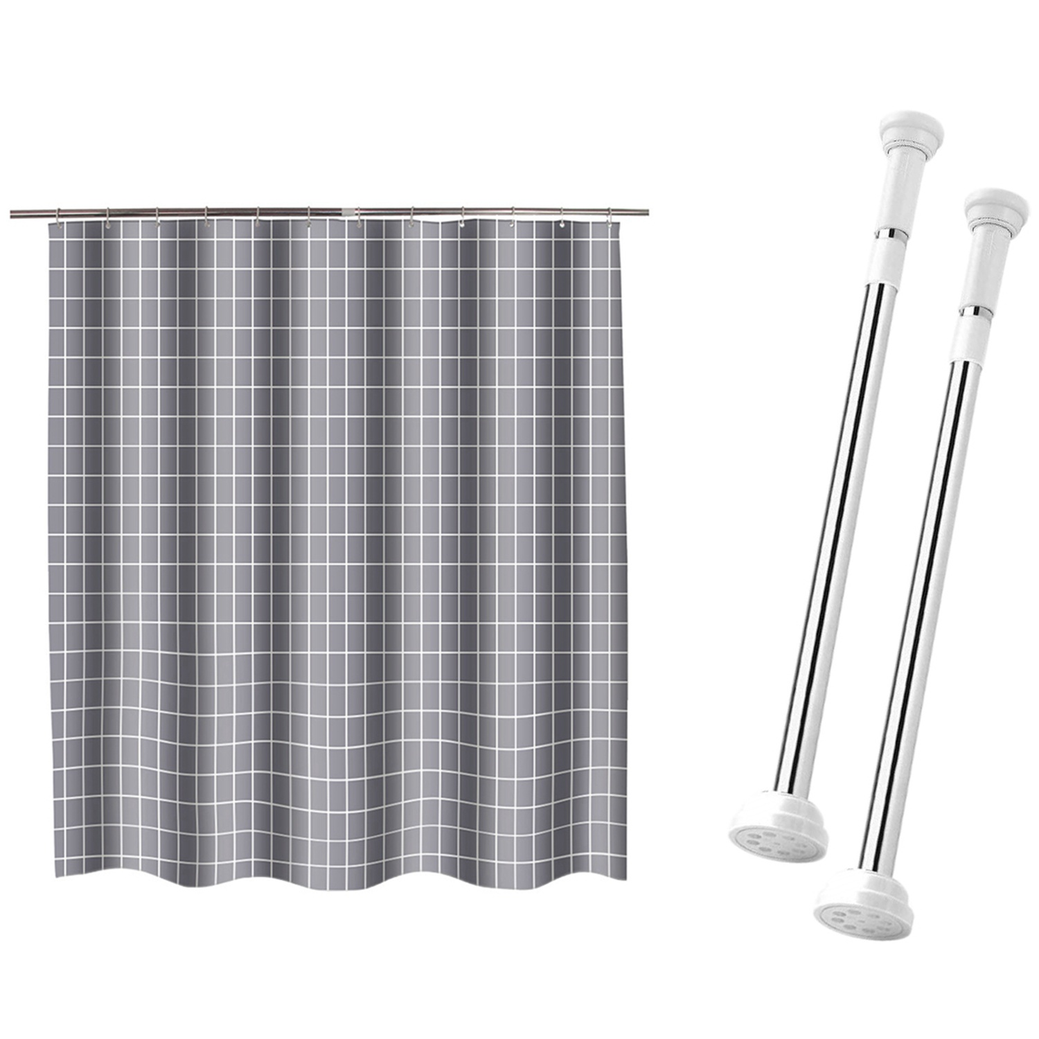 Tension Curtain Rod Spring Tension Rods Closet Rod 2 Pack With Home Hotel Toilet Waterproof Bathroom Partition Curtain Buy Online At Best Prices In Pakistan Daraz Pk