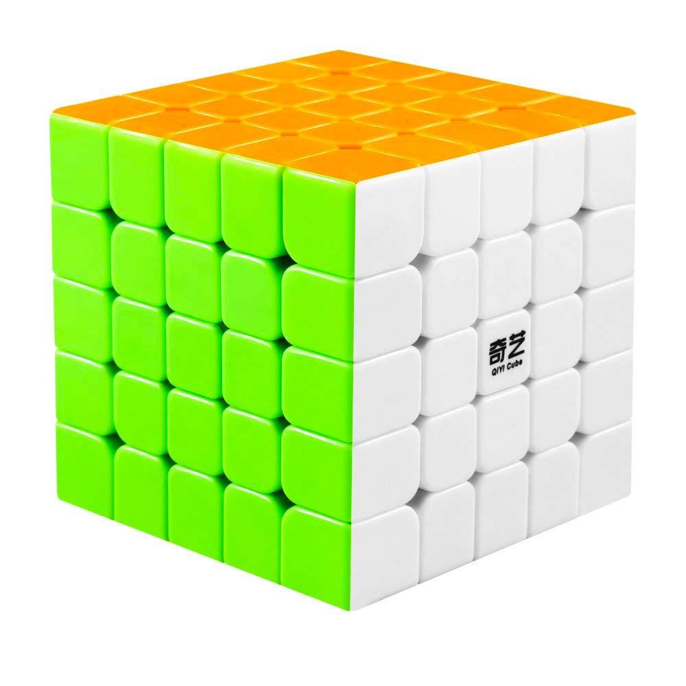 Original Qiyi Qizheng S Rubiks Cube 5x5 Sticker Less Qiyi Warrior S Best Quality Fast Speed Magic Rubik Speed Cube Educational Puzzle Toys