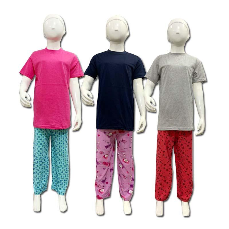 Pack Of 3 Multicolors Casual Wear Suit For Girls