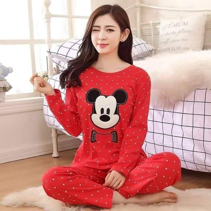 NIGHT SUIT RED MICKY MOUSE..