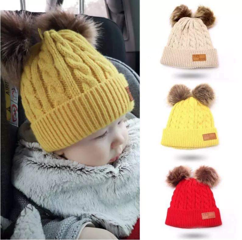 Cutie Pie Store Toddler Infant Baby Kids Venonat Knited Woolen Headgear Hat Cap