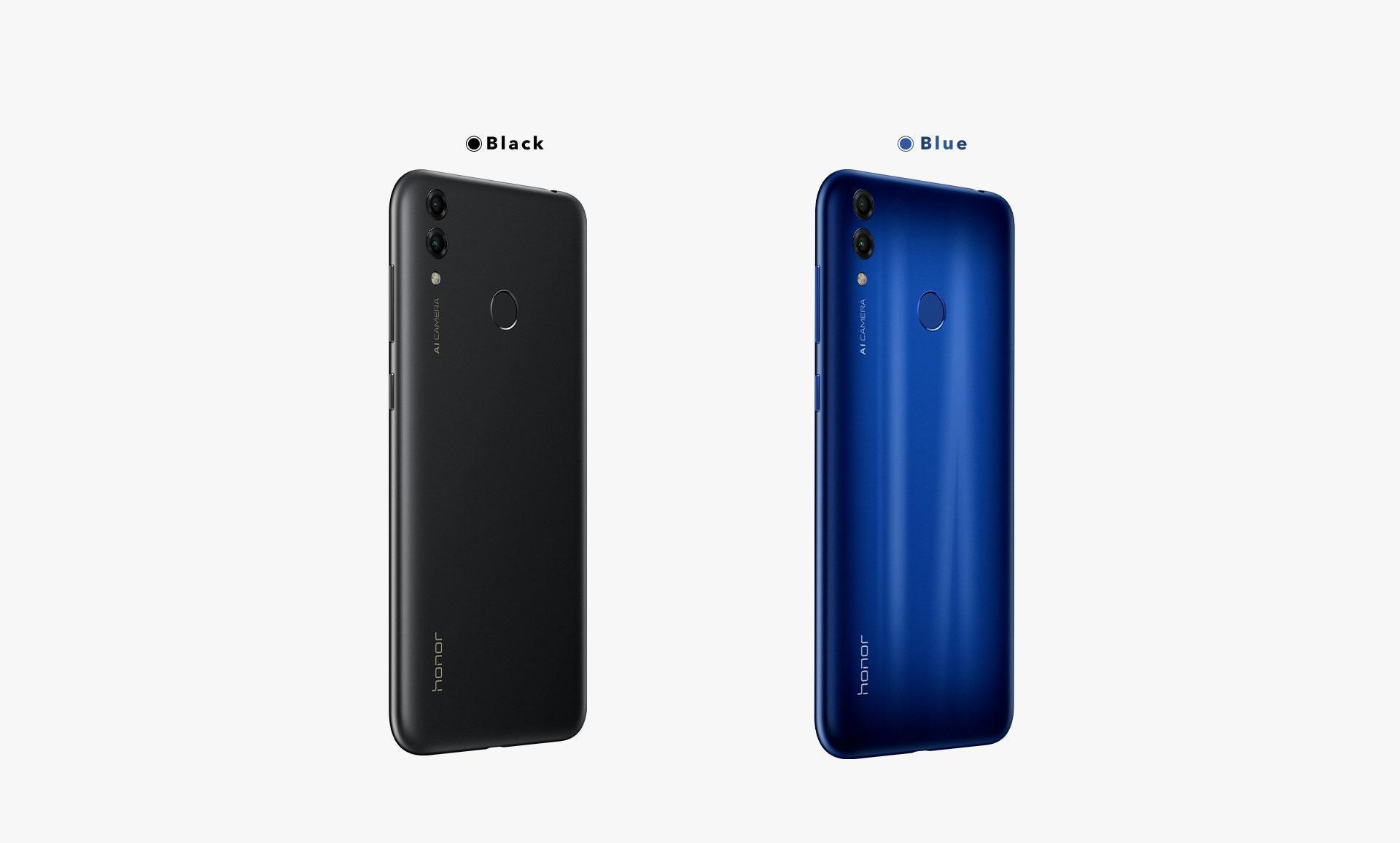 Honor 8C Black and Blue Colors