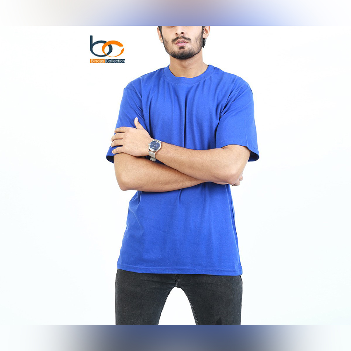 Bindas Collection O Neck Plain Cotton Jersey T-shirt For Men