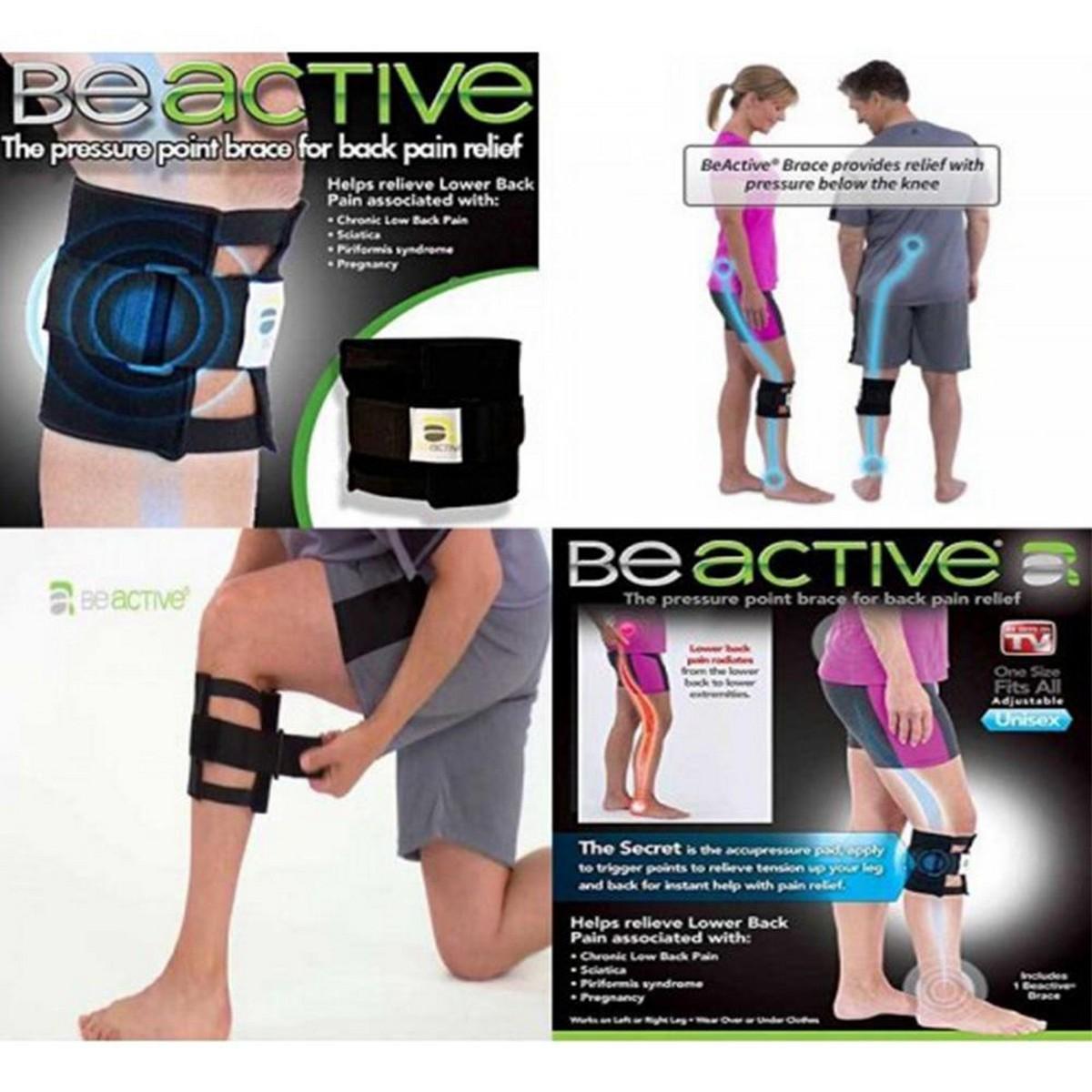 Beactive Pressure Point Brace Back Pain Acupressure Sciatic Nerve Be Active Elbow Knee LEG Pad