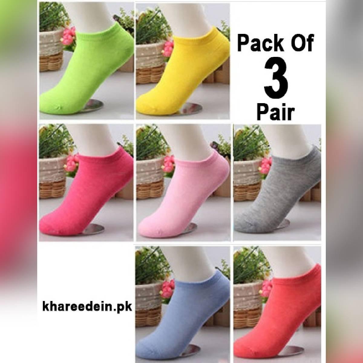 Pack Of 3 - 6 - 9 - 12 - Ankles Socks For Women / Girls