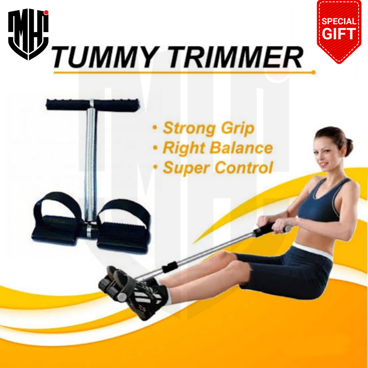 MHI Tummy Trimmer Single & Double Spring High Quality- Body Weight Loss Exercise Machine - Home Workout Gym for Men & Women - Tummy Trimmer For Girls - Tummy Trimmer For Women- Tumy Trimer - Tummy Trimmer For Men - Tumy Slimmer