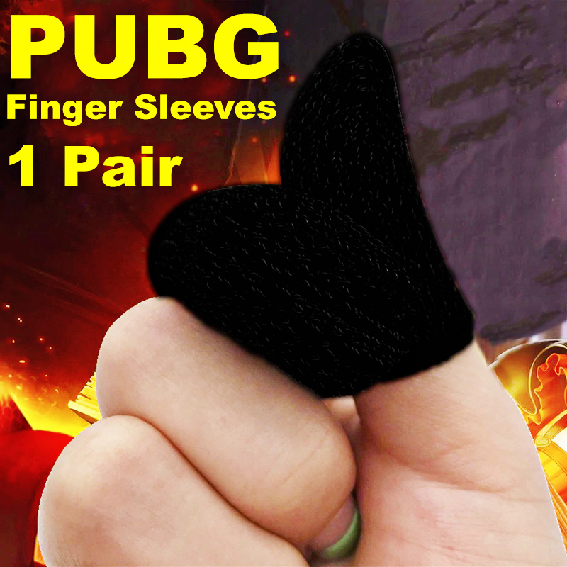 PUBG Finger Sleeve Cover For Sweat Proof Non Scratch Sensitive Touch Screen Gaming Thumb Gloves Mobile Fingertip Anti-Slip Breathable Sweat-Proof Assist Anti-Sweat Ultra-Thin Washable Reusable Trigger Fortnite Sweat-Proof Mobile Phone Tablet Games