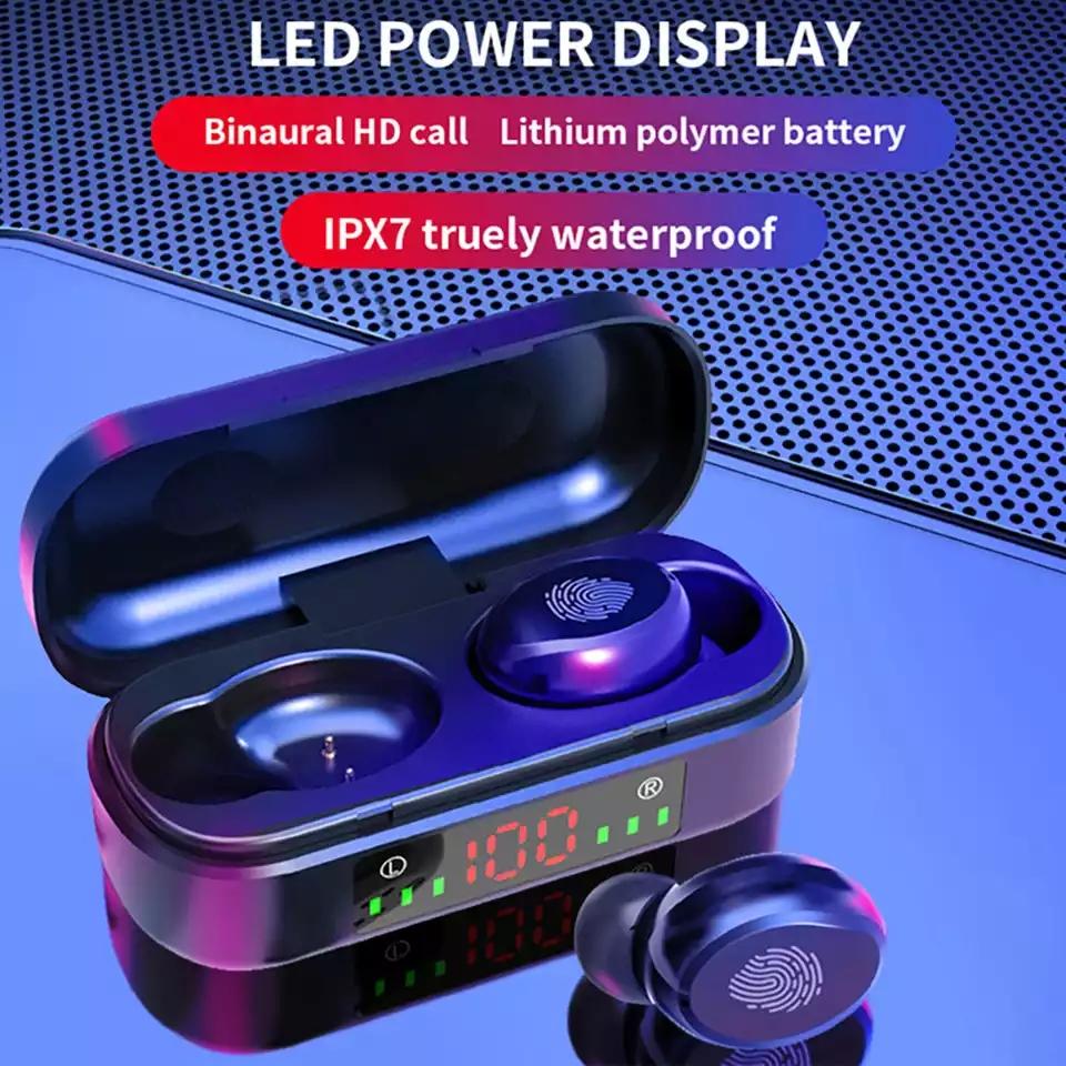 TWS Wireless Earphones Bluetooth Earphone 5.0 9D Bass Stereo Waterproof Earbuds Handsfree Headset With Microphone Charging Case