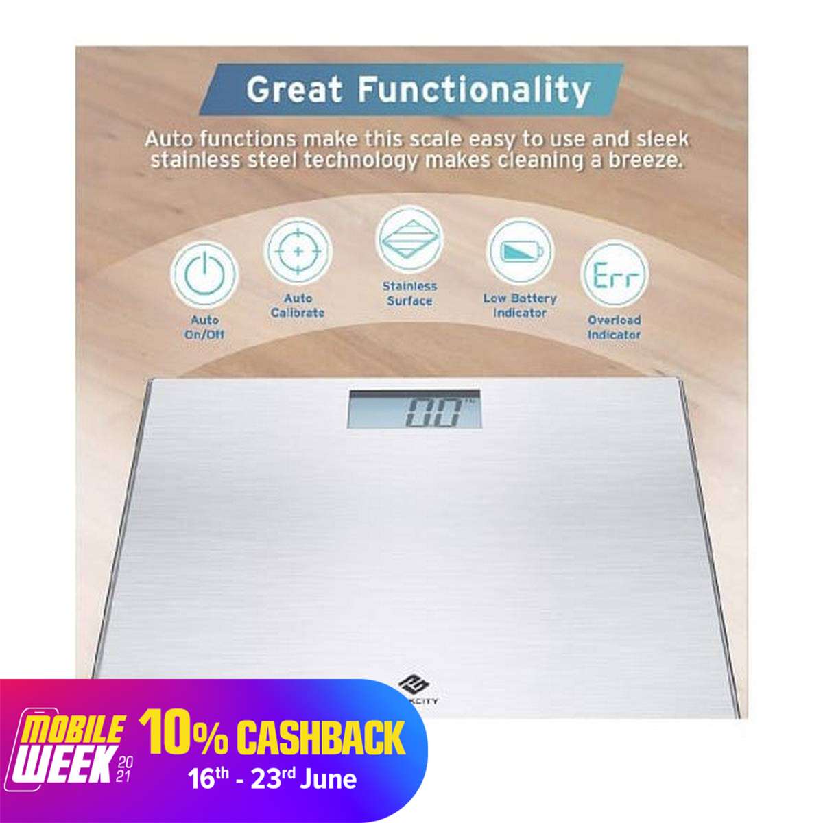 Stainless Steel 180Kg Personal High Accuracy Digital Step-On Technology Body Weight Scale / Weighting Machine DB6030S