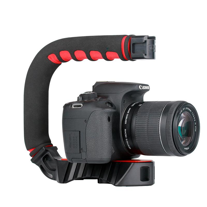 Ulanzi Handheld Pro Video Stabilizer U Shape Rig Triple Hot Shoe Handle  Grip for Gopro 7 6