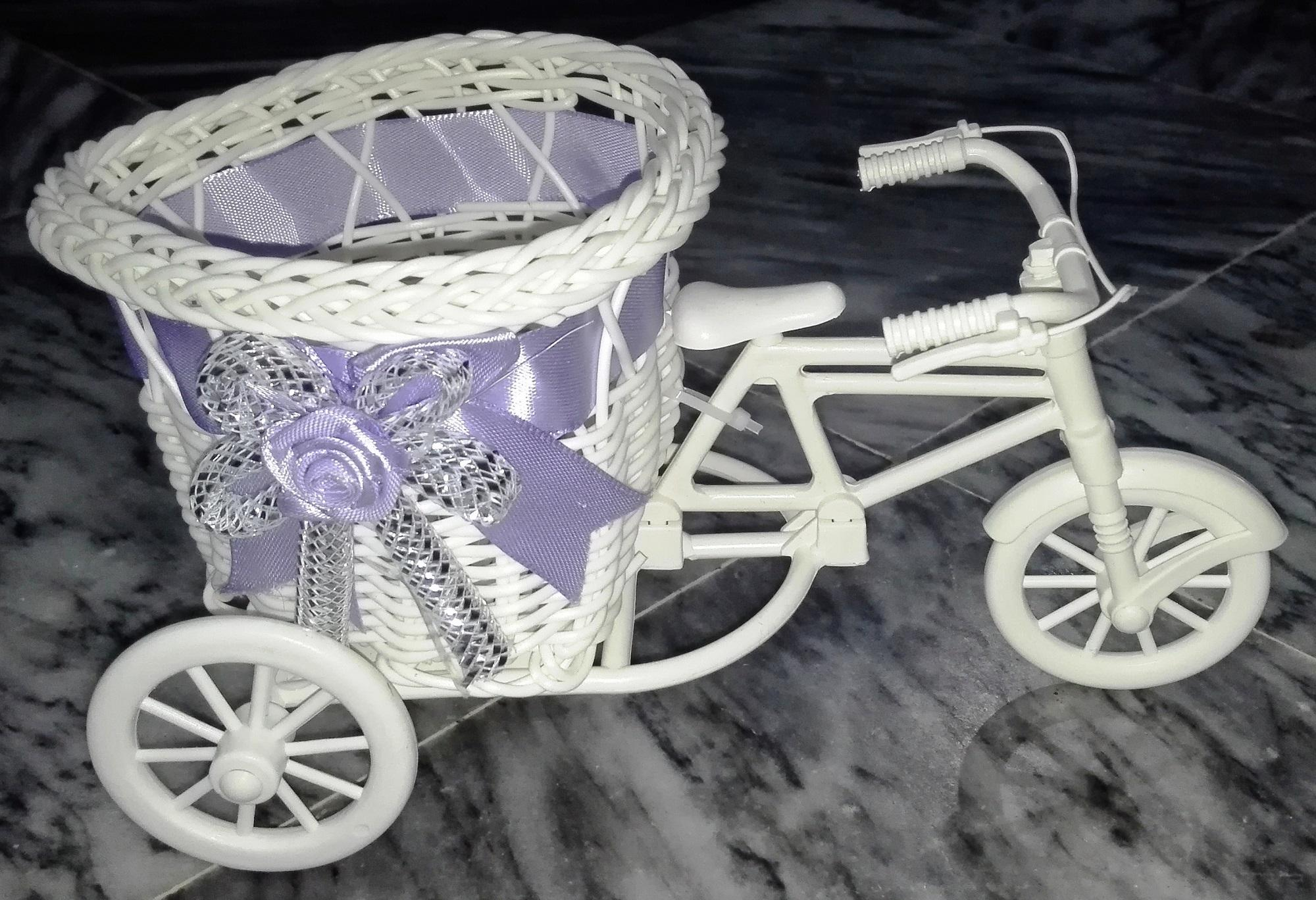 Beautiful Love Gift - Tricycle Bike Flower Basket Vase Container and Multipurpose Holder
