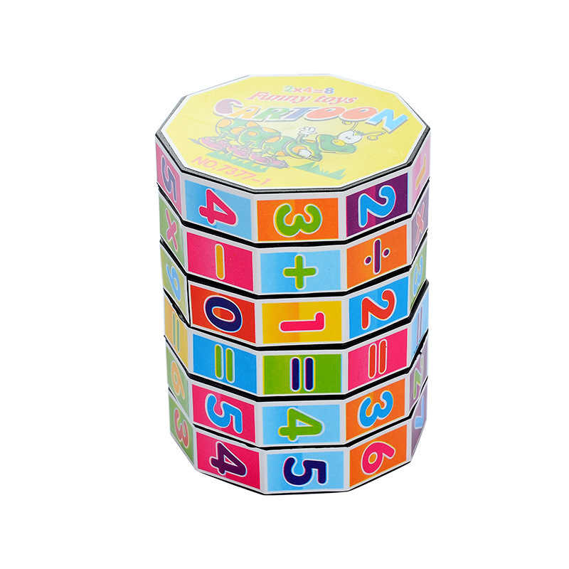 Numbers Mathematics Early Learning Counting educational Toy Kids Baby Cylindrical Plastic Digital Rubik's Cube