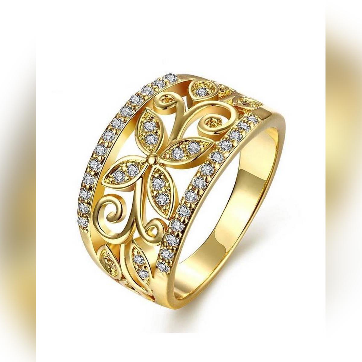 World Wide 18 K Gold Jewellery Women Rings