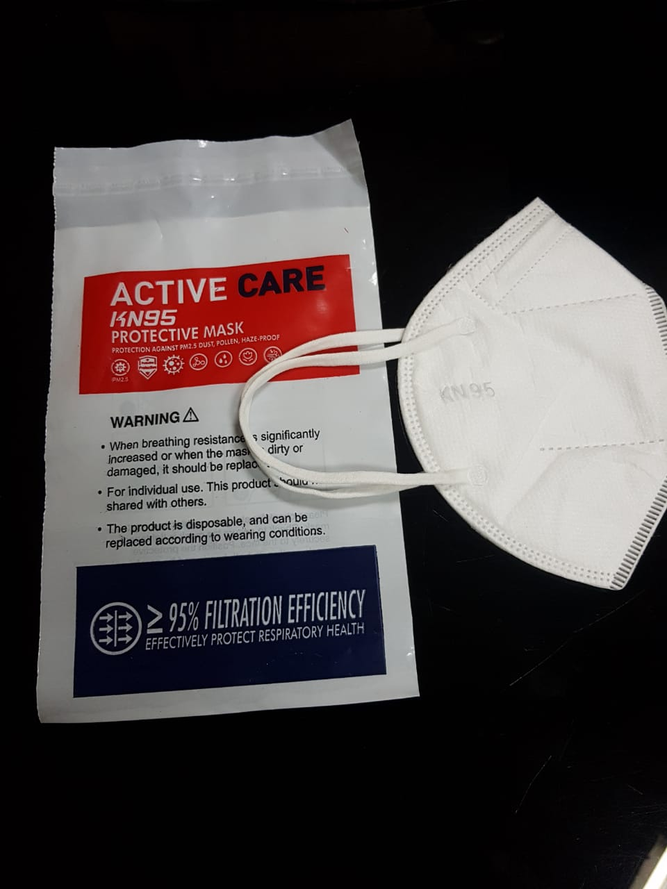 ACTIVE CARE KN  95 Face Maskk with 95% FILTERATION EFFICACY