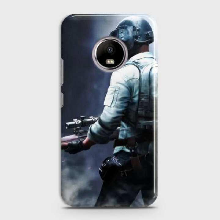Motorola E4 Plus Cover Pubg Level 3 Helmets Character Hard Cover- Design 15 Case