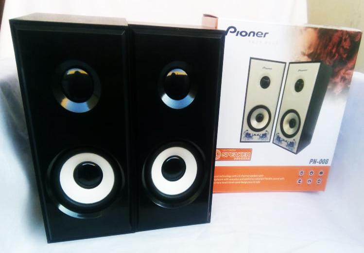 Pioner 3D Sound Technology With 2 0 Channel Speaker PN-008 - Black