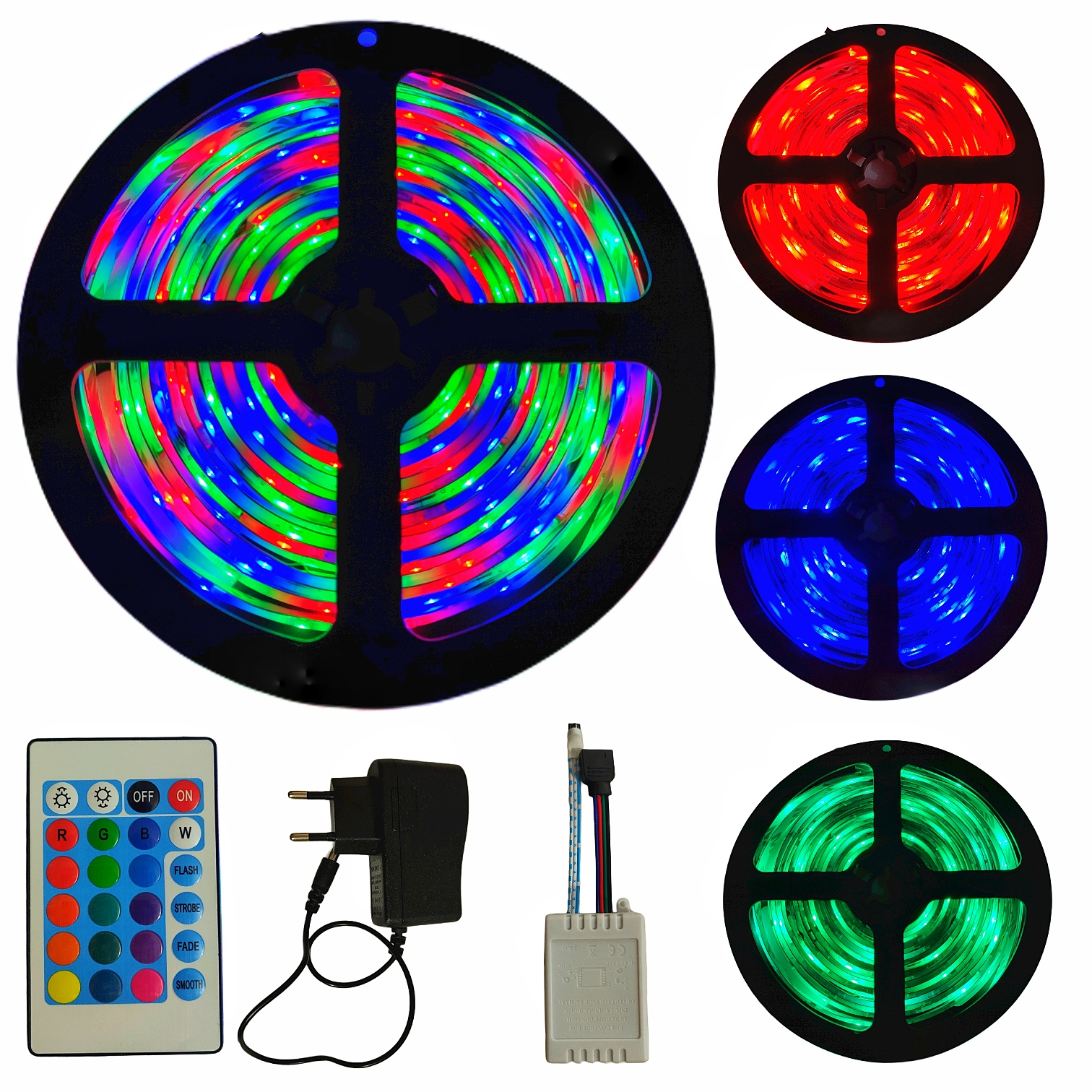 RGB LED Strip Light, Remote Control RGB LED Strip Light, 3528 LED Strip Light, Waterproof IP65 RGB SMD LED Light with Complete Kit for Home, Room, Wall, TV, Computer Table, Home Decoration, Ceiling, Bed Room, Interior, Gaming Setup | Elegant Home