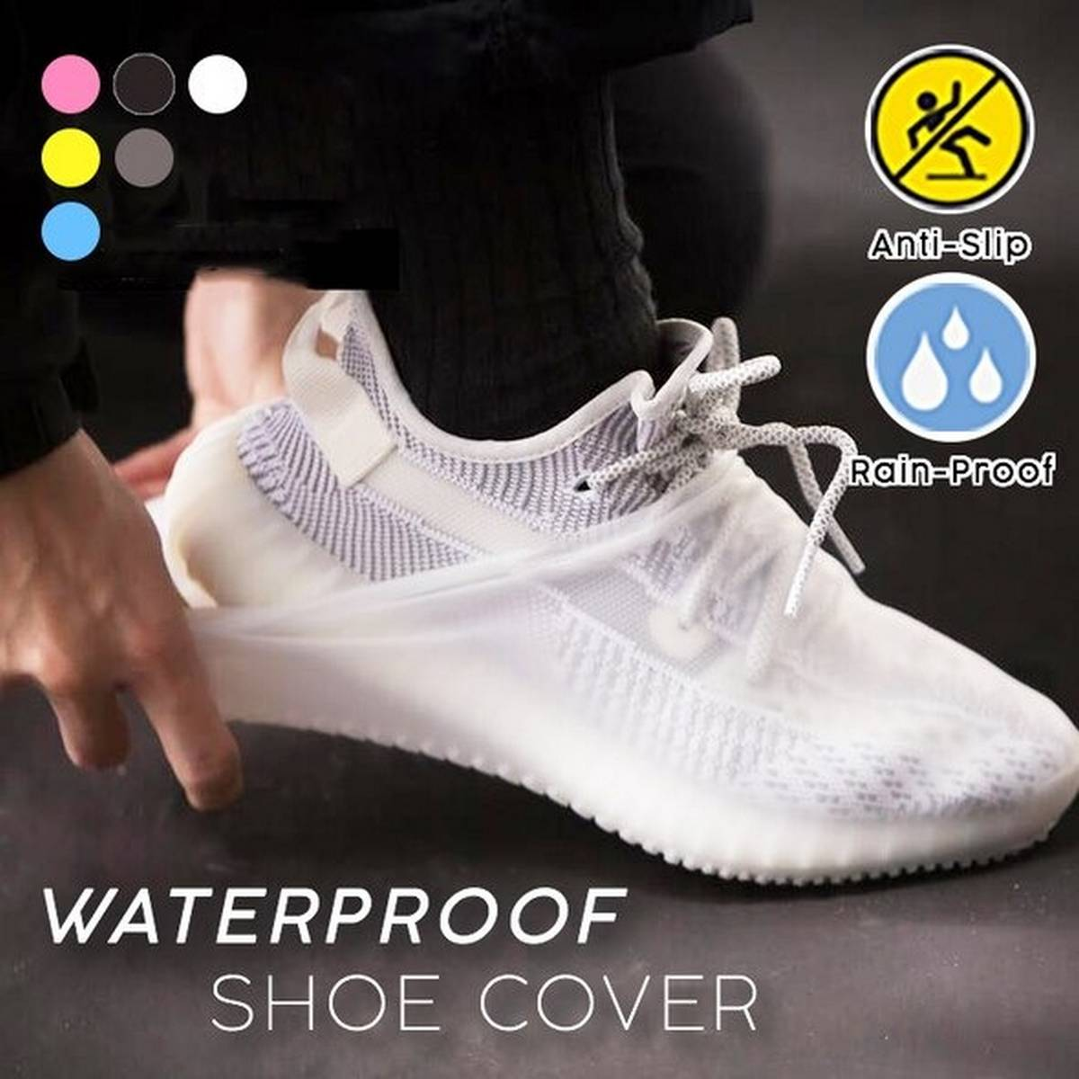 New Reusable  Nonslip Silicone Shoe Covers Waterproof Rain Shoe Covers Outdoor Camping Unisex Shoe Protector Waterproof Boots Barish Shoe Cover Pakistan Tour travel Foot Cover
