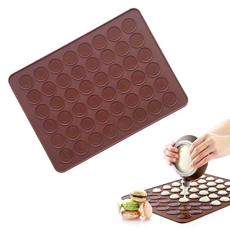 48 Hole Silicone Baking Mat Large Double Sided Macaron Mold Buy Online At Best Prices In Pakistan Daraz Pk