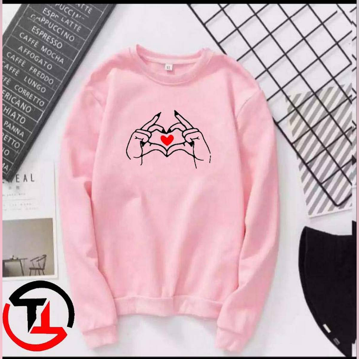 Sweatshirt for girls new and stylish ,Winter Wear ,Export Quality , Round Neck