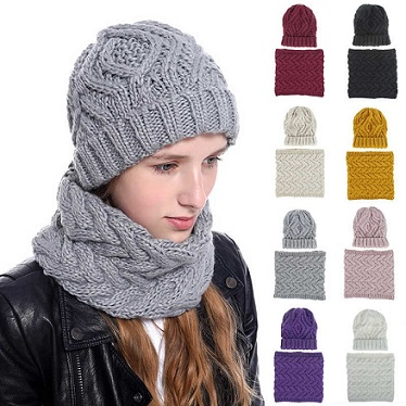 Stylish Winter Hats, Ladies And Gents Hot Knitted caps and Neck Warmer Mask 2 in 1 Scarf Beanie for Kids, Boys & Girls / UNISEX Double Layer Hat and Neck Warmer For Mens And Womens.