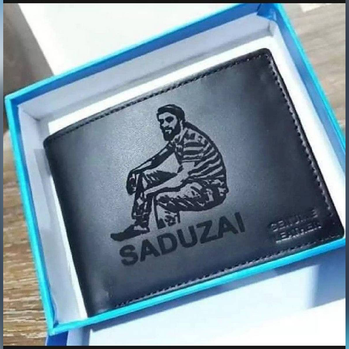 2 in 1 Combo Customize Your Photo Engraved Wallet And keychain Set For Men
