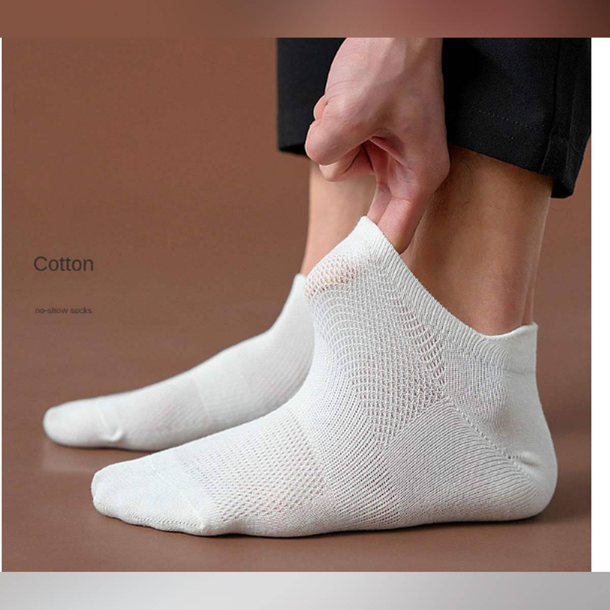 2 pair Hot Sale Solid Mesh Men's Socks Invisible Ankle Socks Men Summer Breathable Thin Boat Socks cheap price Men Boat Socks