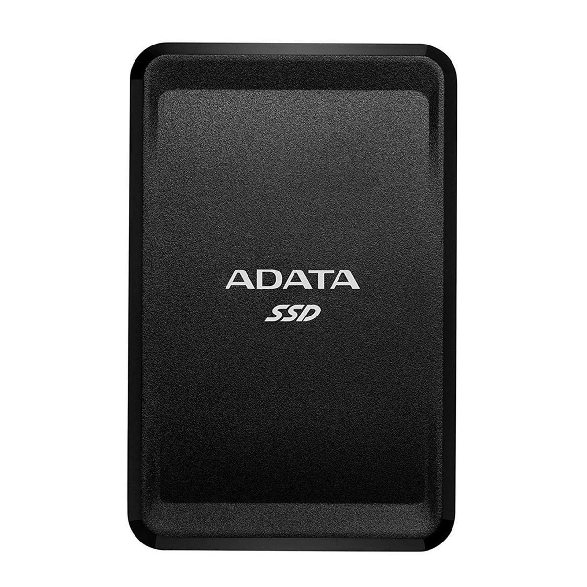 Adata 250gb Sc685 - Up To 530 Mb/s - 3d Nand Usb 3.2 Gen 2 Type-c Compact Portable External Ssd Black