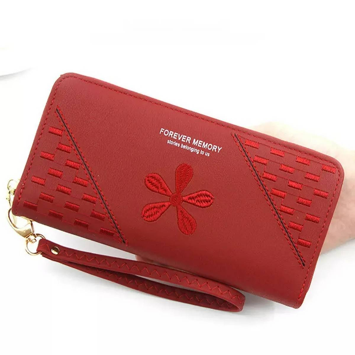 Embroidery Flowered Ladies Wallet and Clutch