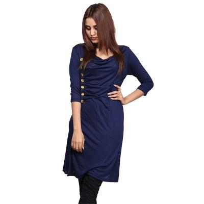 56c714076fb Navy side Button Top for Women - OWA-TopW-SButton