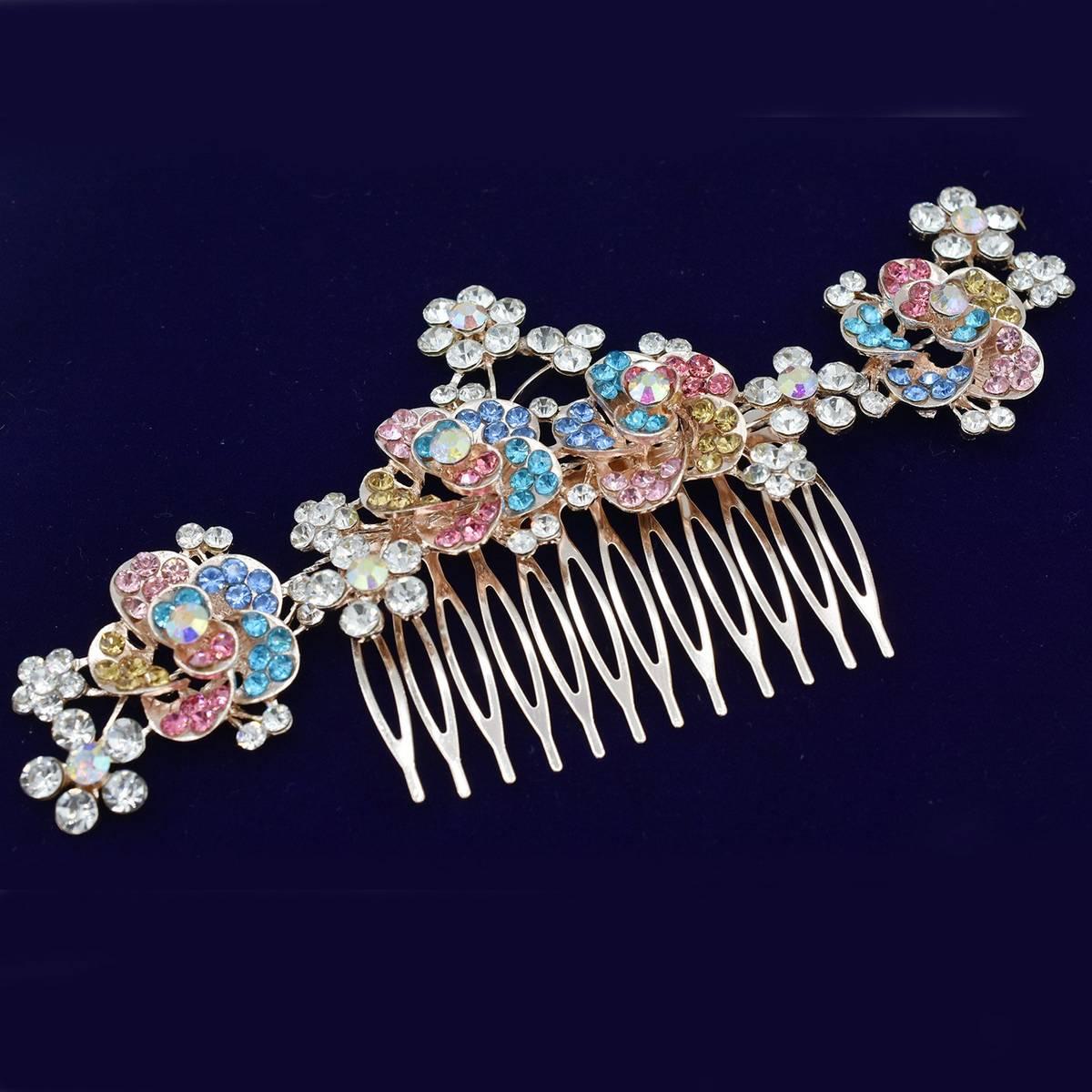 Pearl Bridal Hair Clip Accessories Jewelry Wedding Elegant Crystal Bride Hair Comb Headwear