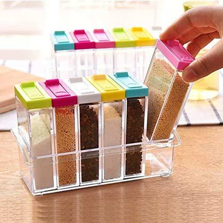Spice Jar Seasoning Jar Kitchen Condiment Box Acrylic Seasoning Box Storage Box Cruet