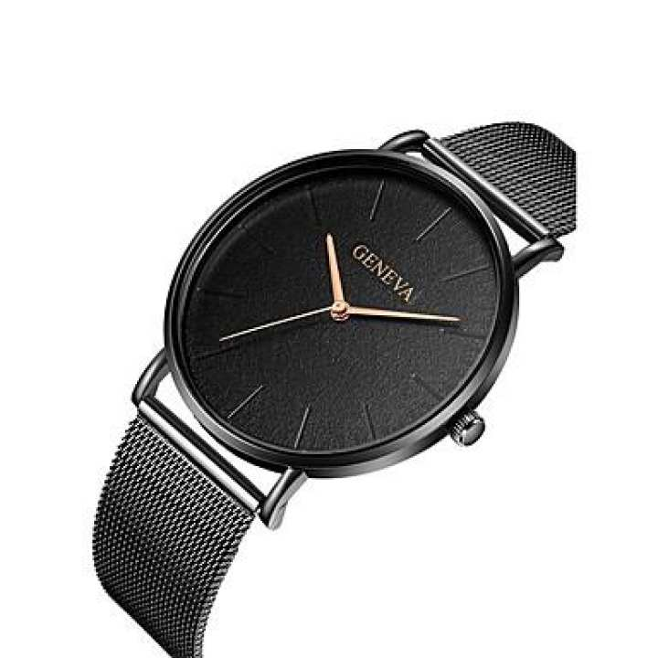 Black And White Stainless Steel Analog Wrist Watch For Men