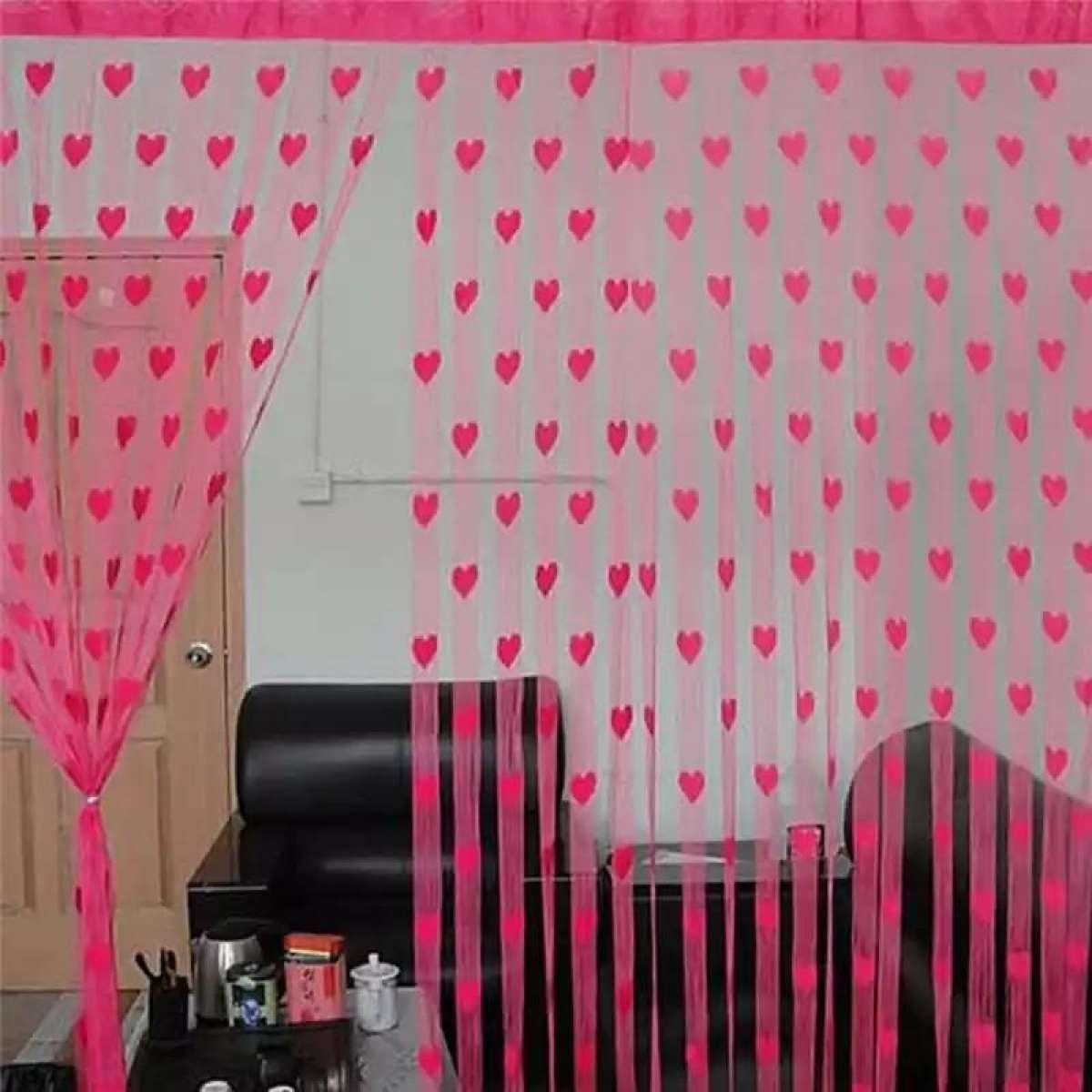 Door Curtains Valance Curtains For the Living Room Window Canopy Salon Heart Door Tassel Dividers Blind Line String