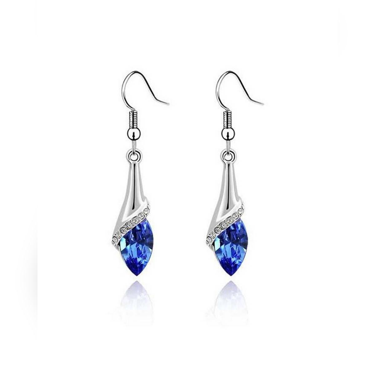 Platinum Plated Crystals Earrings for Women - ER-0062