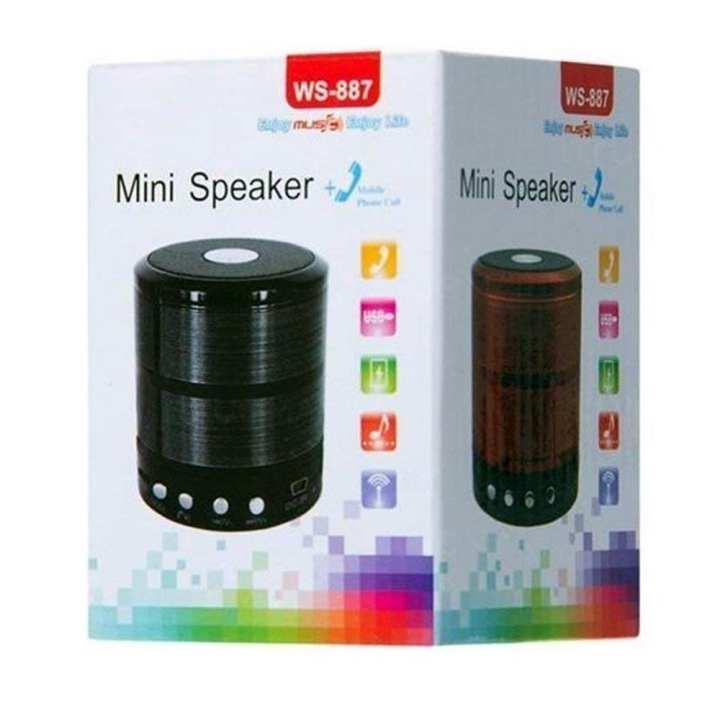 WS-887 Memory Card Slot Mini Bluetooth Speaker