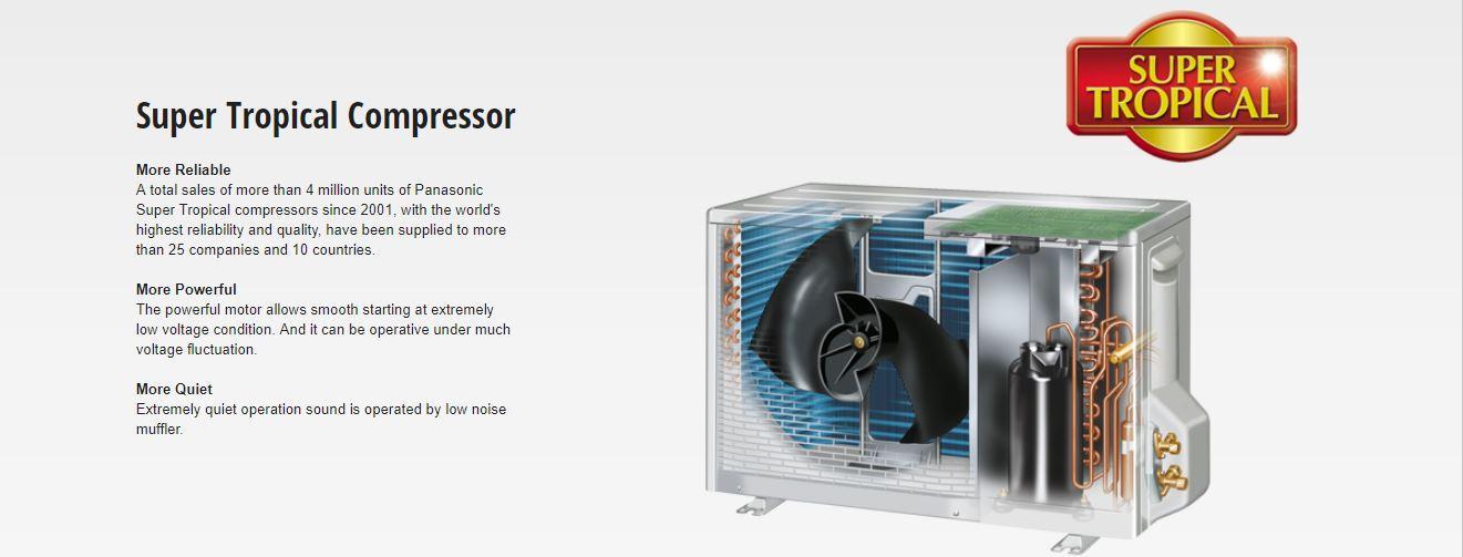 Panasonic CSPC-18MKF - Tropical Cool Split Air Conditioner - 1 5 Ton