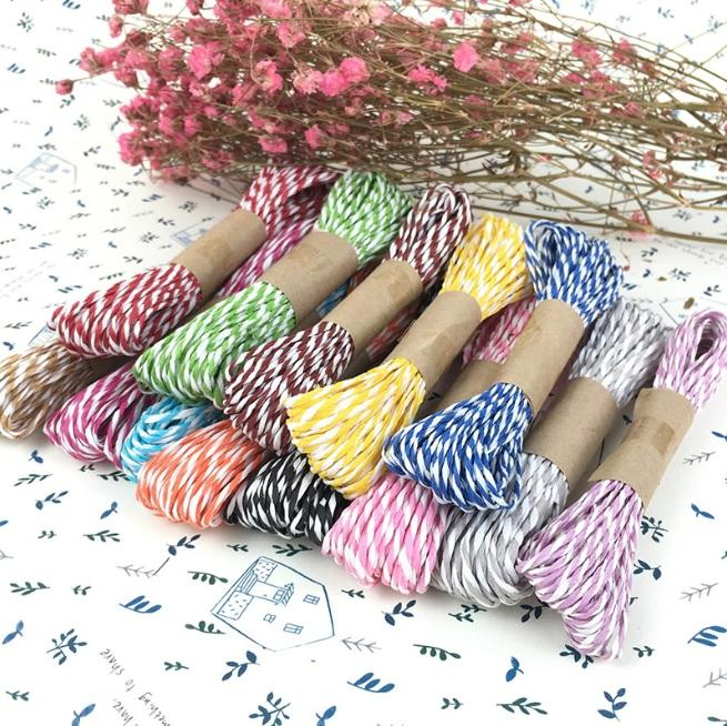 G2PLUS Craft Paper String for DIY Packaging Decorations 12 Colors 10 Yards of Each Color