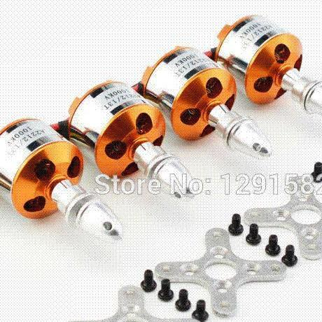4pc A2212 1000KV Brushless Motor For RC Airplane Quadcopter