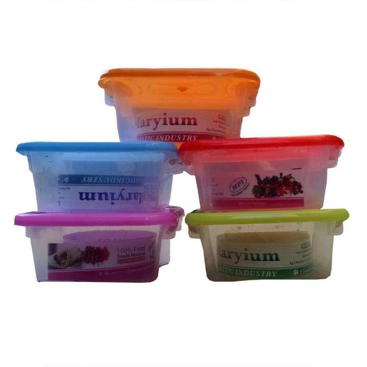 Plastic Food Box (5 PCS)